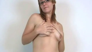 Stockinged Inexperienced Nubile Stunner In Glasses Heidi Displaying Her Pointy Mammories And Dancing Temptingly For You