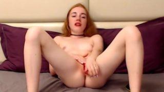 Nice Nymph Showcase Her Muff And Onanism